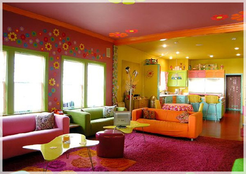 Glamour Beach Living Room In Vibrant Colors