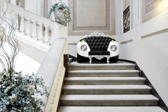 Glamour Beetle Armchair Mixing Glam And Car Parts
