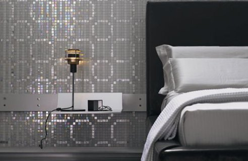 Glamour Hotel Bedroom With Reflective Walls