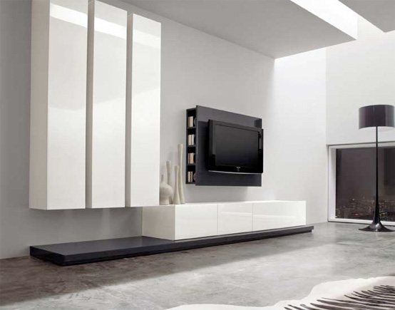 Glamour minimalist linear furniture by dall 39 agnese for Best minimalist furniture