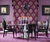 Glamour Violet Dining Room