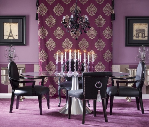 39 bright and colorful dining room design ideas digsdigs for Glam dining room ideas
