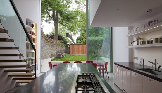 Glass Cube House Extension