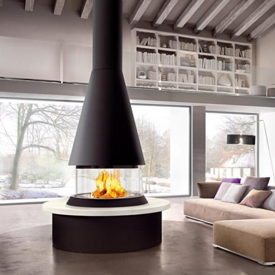 Glass Fireplaces To Watch The Fire From All Angles