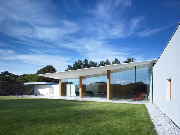 House With Almost Half Of The External Walls Made Of Glass