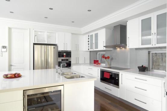 Glossy White Kitchen Design Trend
