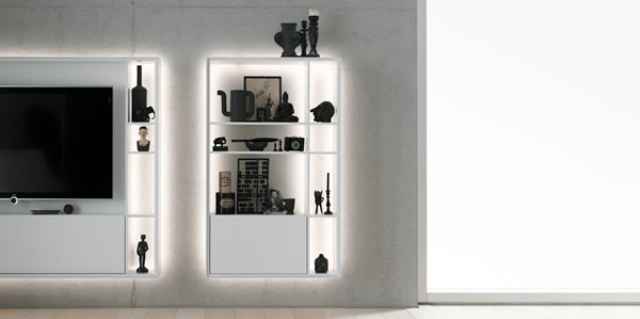 Glowing Bookless Shelf System To Show Off Your Items