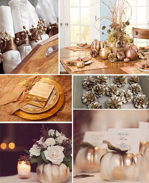 35 gold thanksgiving d cor ideas digsdigs Thanksgiving decorating ideas