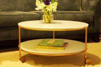 golden IKEA Strind table