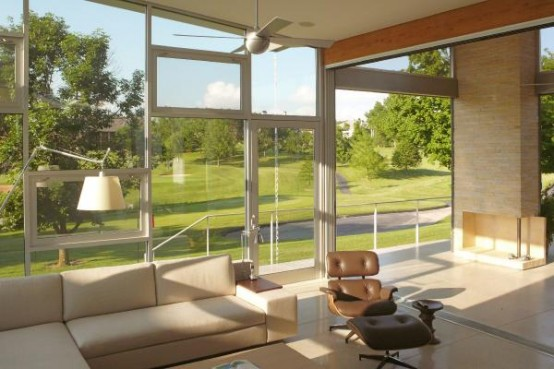 Golf Course House With Modern Open Plan