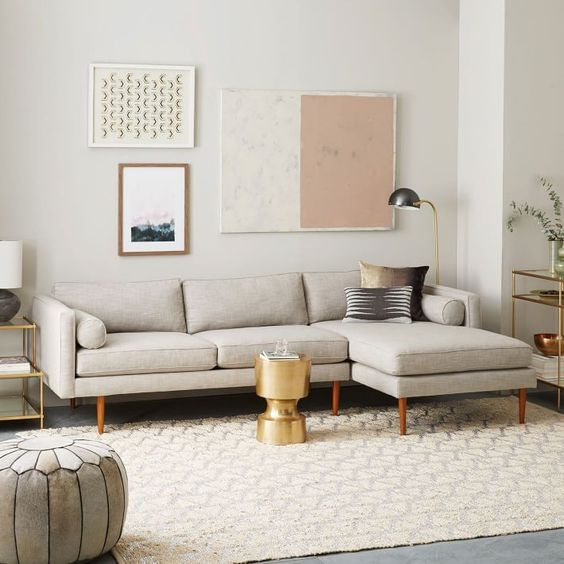 Picture Of gorgeous airy mid century modern living rooms  10