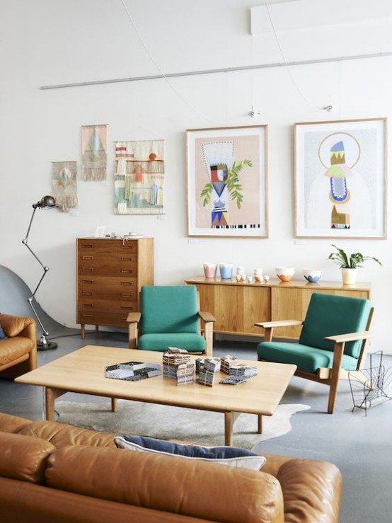 35 Gorgeous Airy Mid-Century Modern Living Rooms - DigsDigs