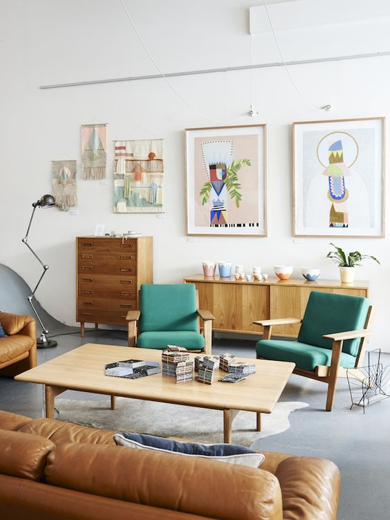 Picture Of gorgeous airy mid century modern living rooms  11