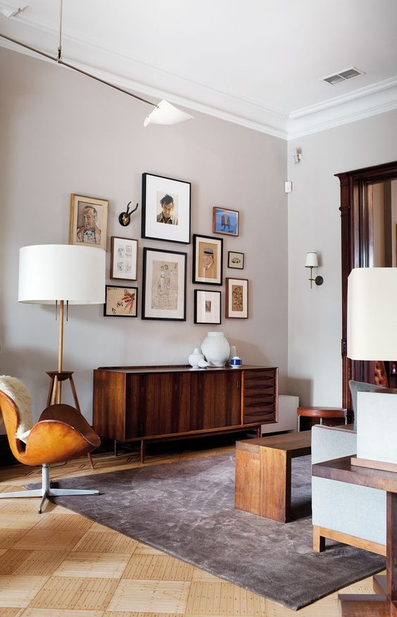 Picture Of gorgeous airy mid century modern living rooms  14