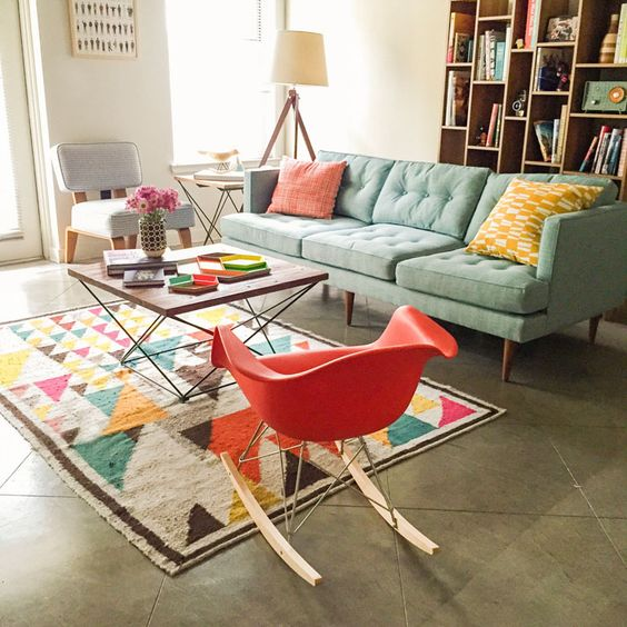 Picture Of gorgeous airy mid century modern living rooms  2
