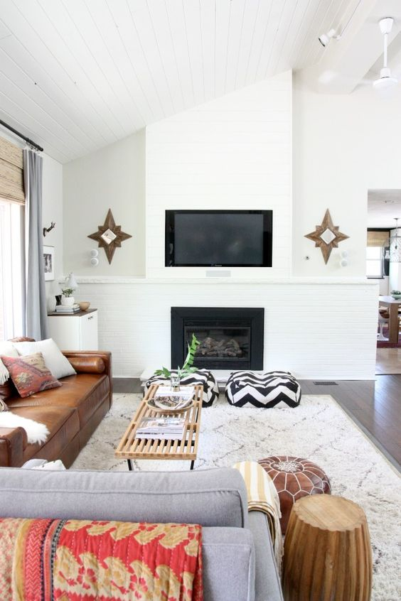 Picture Of gorgeous airy mid century modern living rooms  25