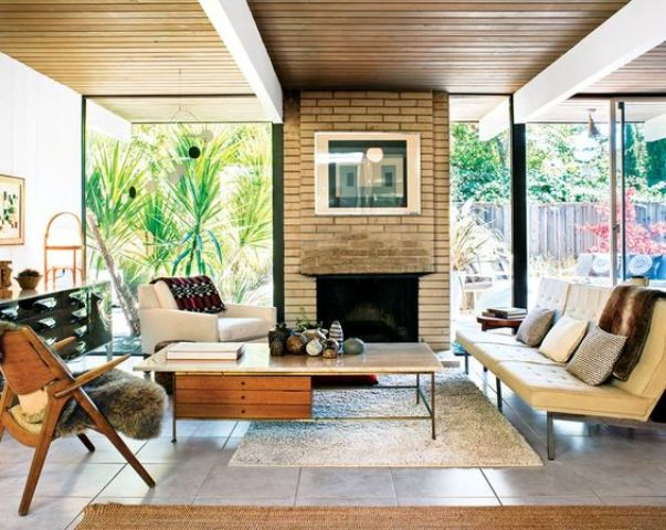 Picture Of gorgeous airy mid century modern living rooms  28
