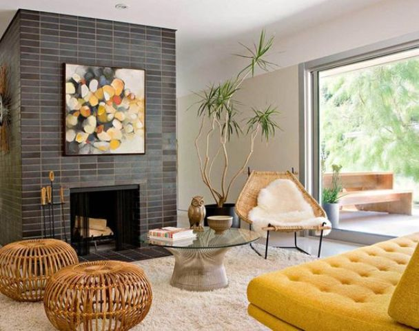Picture Of gorgeous airy mid century modern living rooms  31