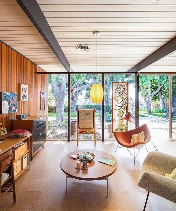 Picture Of gorgeous airy mid century modern living rooms  32