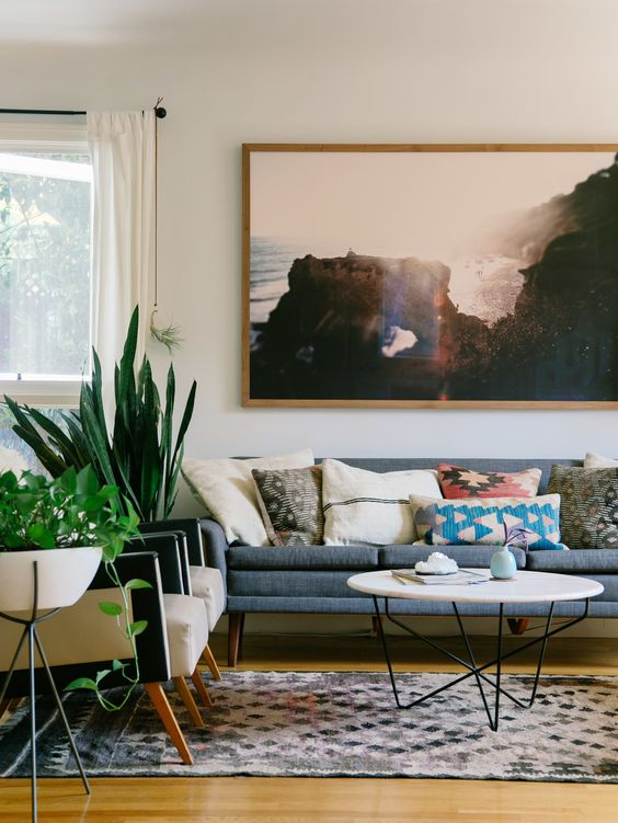 Picture Of gorgeous airy mid century modern living rooms  5