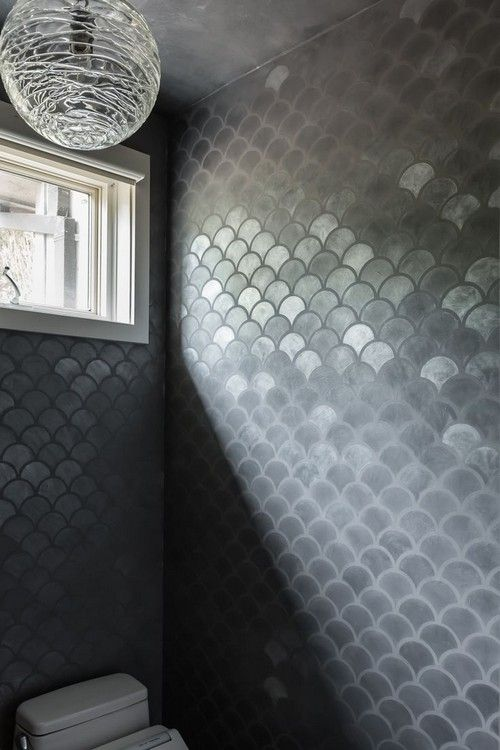 Gorgeous And Eye Catching Fish Scale Tiles Décor Ideas