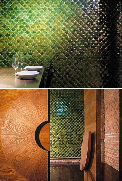 Picture Of gorgeous and eye catching fish scale tiles decor ideas  13