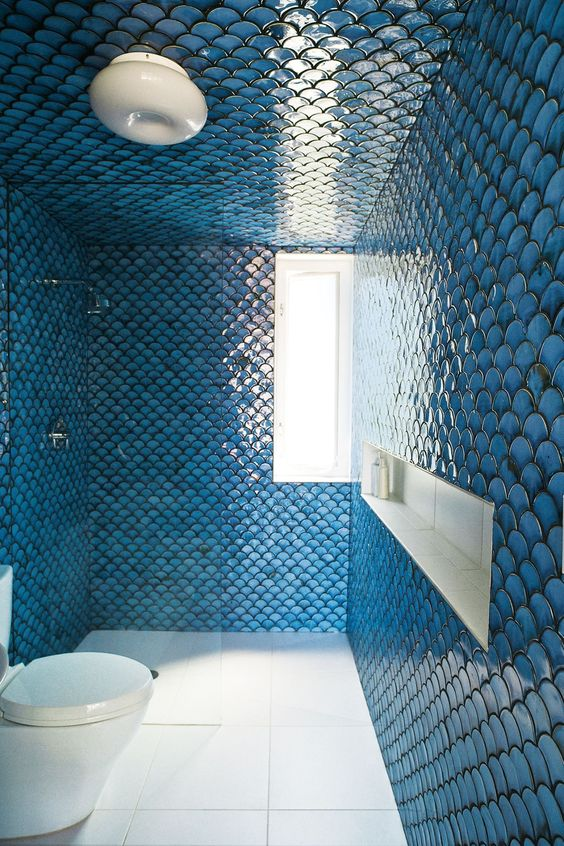 Picture Of gorgeous and eye catching fish scale tiles decor ideas  15