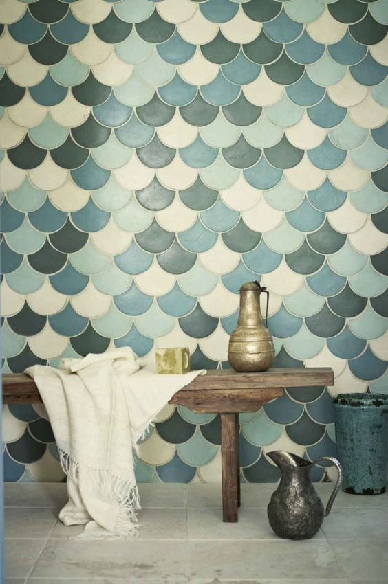 Picture Of gorgeous and eye catching fish scale tiles decor ideas  16