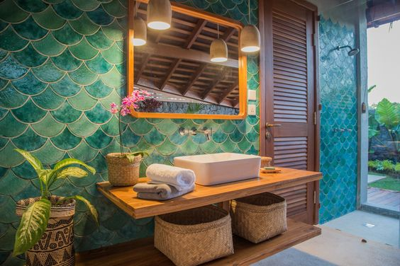 Picture Of gorgeous and eye catching fish scale tiles decor ideas  23