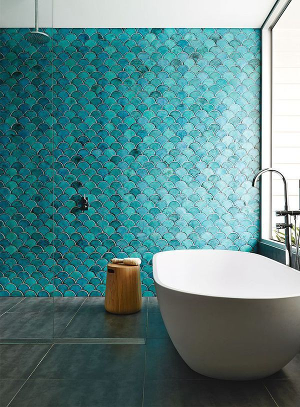 Picture Of gorgeous and eye catching fish scale tiles decor ideas  6