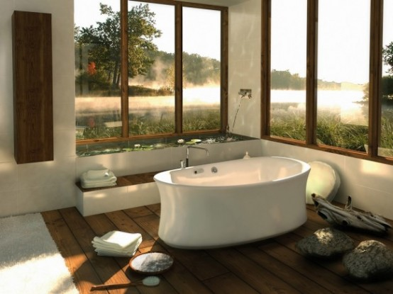 Gorgeous Bathroom With A Gorgeous View
