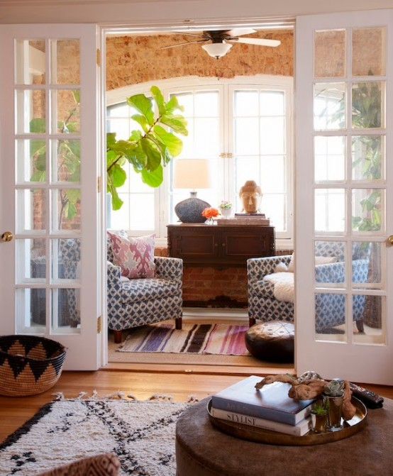 Gorgeous Eclectic Feminine Home With Gold Accents