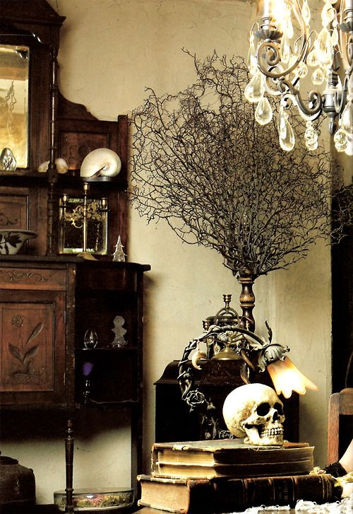 21 gorgeous gothic home office and library d cor ideas for Gothic bathroom ideas