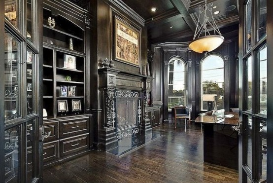 21 Gorgeous Gothic Home Office And Library Décor Ideas ...