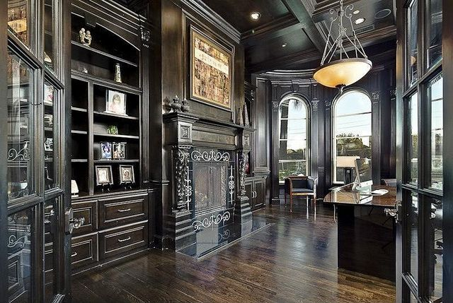 21 Gorgeous Gothic Home Office And Library D Cor Ideas DigsDigs
