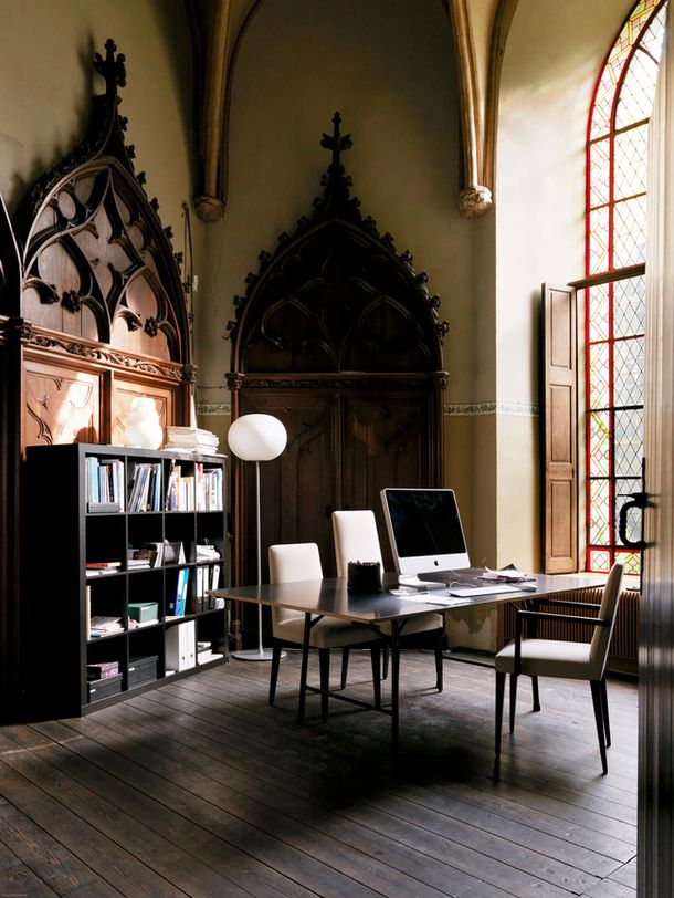 Best Home Libraries: 21 Gorgeous Gothic Home Office And Library Décor Ideas