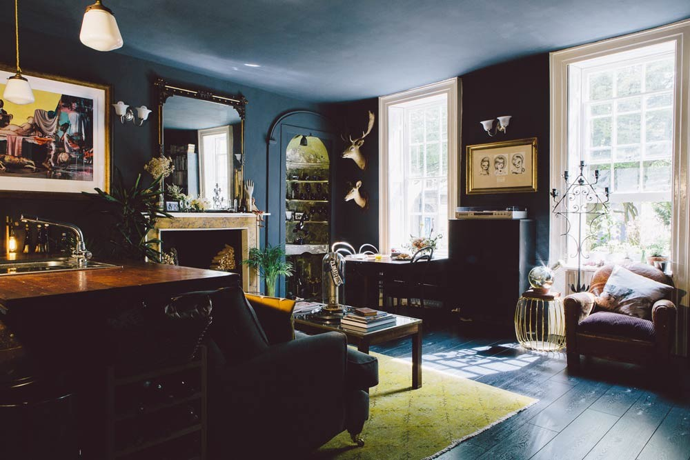 Picture Of gorgeous home full of artwork and vintage finds  2