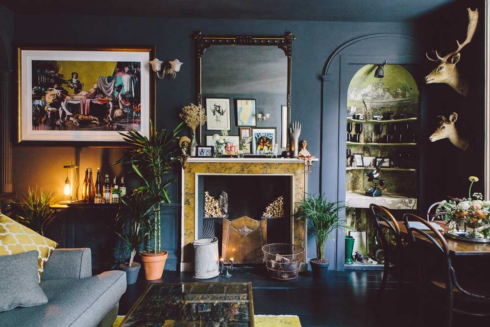 Picture Of gorgeous home full of artwork and vintage finds  3
