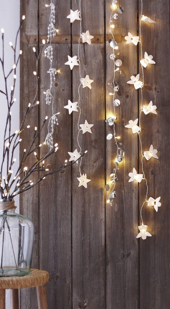 gorgeous indoor decor ideas with christmas lights - Christmas Lights Room Decor
