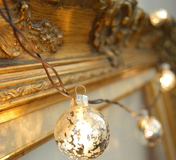 this is one of the simplest ways to light up your house bright ornaments look great put up on the mantelpiece door windows and mirror - Christmas Light Ideas Indoor
