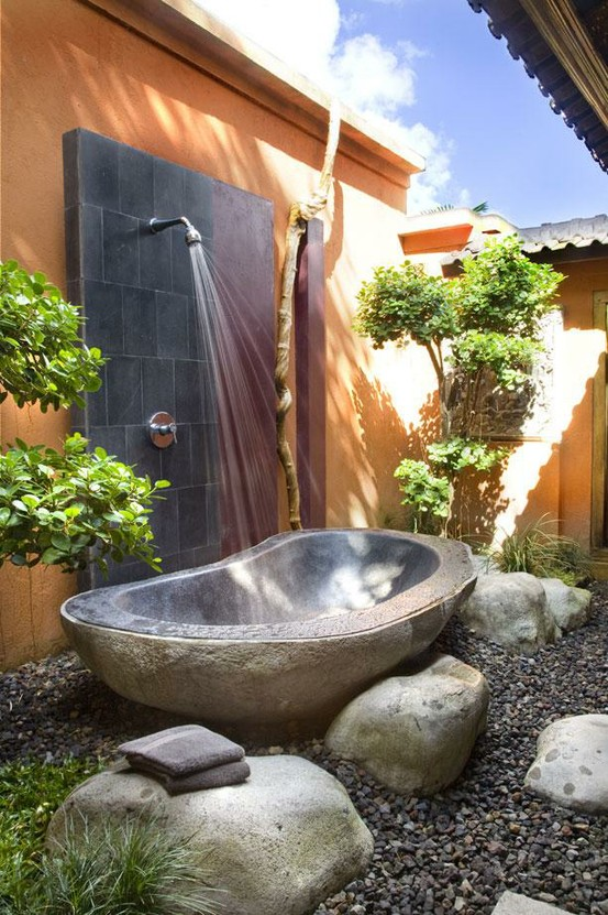 Gorgeous Outdoor Bathroom