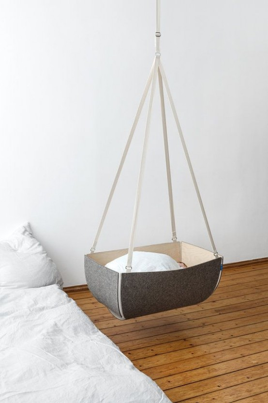 Gorgeous Suspended Cradles For Your Baby