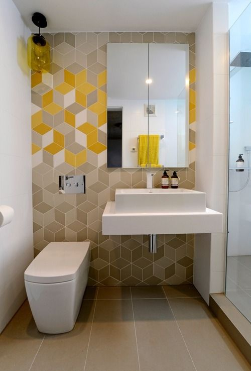 28 gorgeous modern geometric d cor ideas for bathrooms for Gorgeous bathroom designs