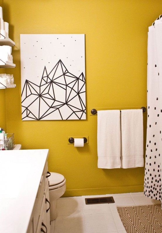28 Gorgeous Modern Geometric Décor Ideas For Bathrooms ...