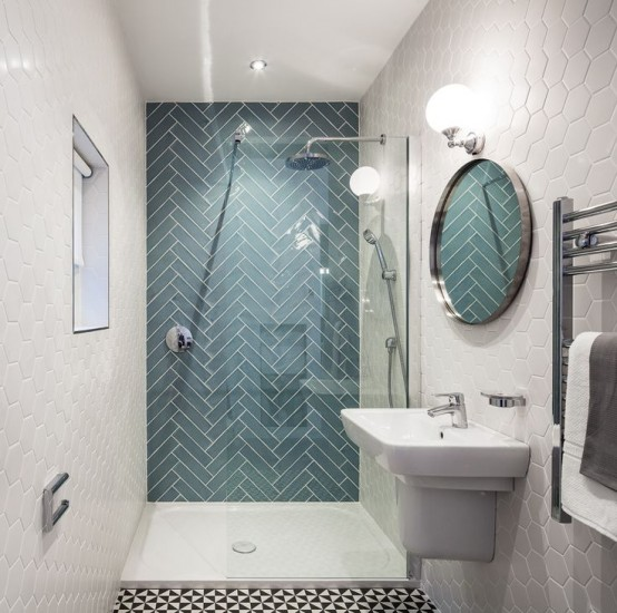 Cool Gorgeous Yet Simple Geometric Decor Ideas For Bathrooms