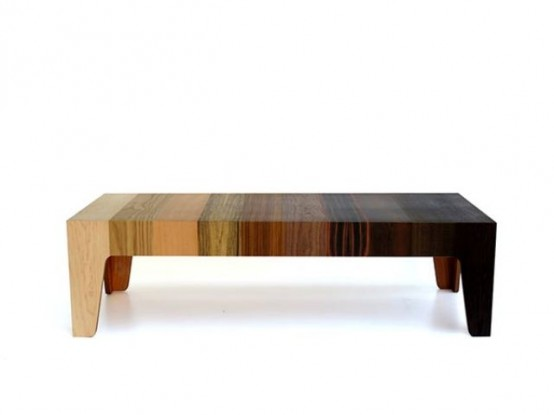 Gradient Table Of 10 Different Types Of Wood Veneer