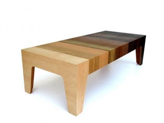 Gradient Table Of 10 Different Types Of Wood Veneer