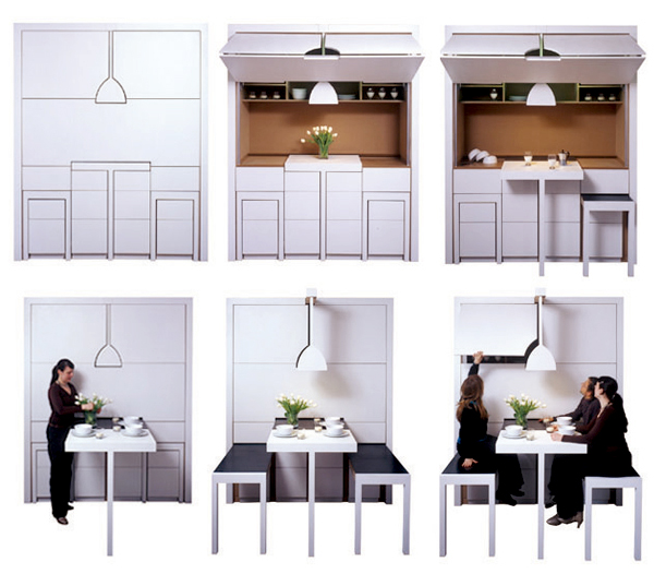 Kitchen Designs Small Spaces: 10 Compact Kitchen Designs For Very Small Spaces