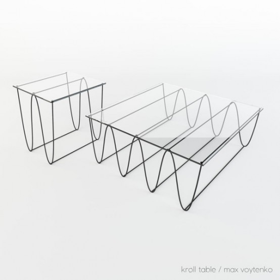 Graphic And Modern Kroll Shelves And Tables Collection