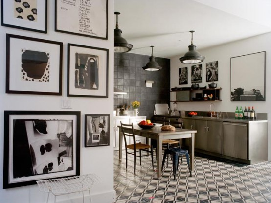 Graphic Black And White Kitchen Design